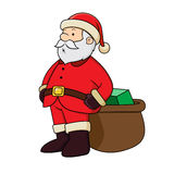 Santa Clause with present Royalty Free Stock Photos