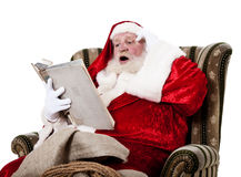 Free Santa Clause Reading Book Royalty Free Stock Photos - 46722728