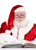 Santa Clause reading book Stock Image
