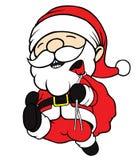 Santa Clause Running Royalty-vrije Stock Afbeeldingen