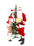 Santa Clause and Santa Giirl Stock Image