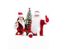 Santa Clause and Santa Giirl Royalty Free Stock Image