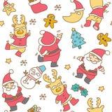Santa Clause seamless pattern vector illustration
