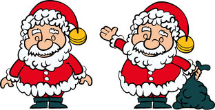 Santa Clause set of 2 Royalty Free Stock Photography