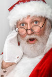 Santa Clause Shocked Royalty Free Stock Photography