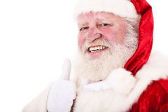 Santa Clause showing thumbs up Royalty Free Stock Images