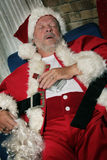 Santa Clause sleeps royalty free stock photos