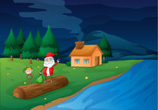Santa Clause and snowman Stock Image