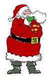 Santa clause super hero Stock Images