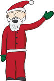 Santa Clause. Vector illustration of santa clause in red suit waving Royalty Free Stock Photo