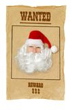 Santa Clause wanted Royalty Free Stock Photo