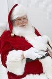 Santa Clause Watching Television stock photo