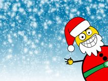 Santa Clause Winter background Stock Photo