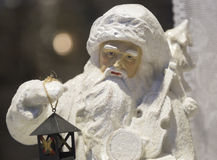 Santa Clause Winter Figurine. Close up Stock Photography