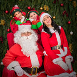 Santa Clause woman smiling elf helper Royalty Free Stock Photo