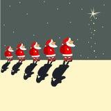 Santa Clauses Royaltyfria Bilder