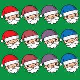 Santa Clauses ajustou-se para o Natal Imagem de Stock