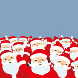 Santa Clauses on a blue background. Santa Clauses on a blue background with space for your text Stock Image