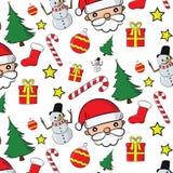 Santa Clauses fijó para la Navidad Fotografía de archivo