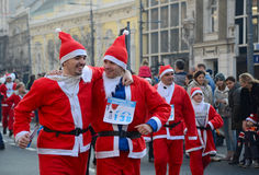 Santa Clauses race in Belgrade, Serbia Stock Image