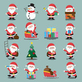 Santa Clauses set for christmas Royalty Free Stock Images