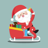 Santa Clauses sleigh for christmas character Royalty Free Stock Images