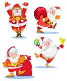 Santa Clauses stellte für Weihnachten ein Lizenzfreies Stockbild