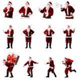Santa Clauses su fondo bianco fotografia stock libera da diritti