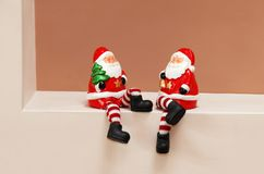 Santa Clauses toys Royalty Free Stock Image