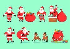Santa Clauses uppsättning fotografering för bildbyråer