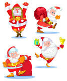 Santa Clauses uppsättning för jul Royaltyfri Bild