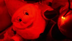 Santa clauss με το κόκκινο φως απόθεμα βίντεο
