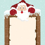 Santa Climb on top Sign Stock Images