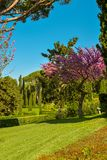 Santa Clotilde Gardens. Beautiful view in the Santa Clotilde Gardens in Lloret de Mar, Spain Royalty Free Stock Photo