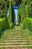 Santa Clotilde gardens Lloret de Mar Costa Brava Stock Image
