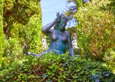 Santa Clotilde gardens Lloret de Mar Costa Brava Stock Images