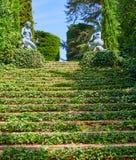 Santa Clotilde gardens Lloret de Mar Costa Brava Stock Photos