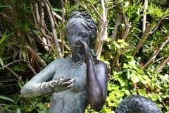 Santa Clotilde gardens. Mermaid statue in Santa Clotilde gardens, Lloret de Mar , Spain stock photos