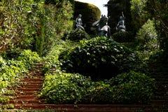 Santa Clotilde gardens. Mermaid statues in Santa Clotilde gardens, Lloret de Mar , Spain royalty free stock image