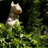 Santa Clotilde gardens. Trees, bushes and statues in Santa Clotilde gardens, Lloret de Mar , Spain stock photos