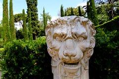 Santa Clotilde gardens. Trees, bushes and statues in Santa Clotilde gardens, Lloret de Mar , Spain royalty free stock photos
