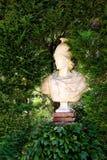 Santa Clotilde gardens. Trees, bushes and statues in Santa Clotilde gardens, Lloret de Mar , Spain royalty free stock photography