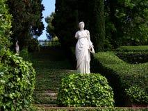 Santa Clotilde gardens. Trees, bushes and statues in Santa Clotilde gardens, Lloret de Mar , Spain royalty free stock image
