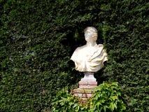 Santa Clotilde gardens. Trees, bushes and statues in Santa Clotilde gardens, Lloret de Mar , Spain royalty free stock photo