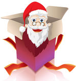 Santa clous box. And gift Royalty Free Stock Photos