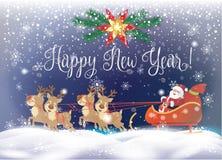 Santa Claus Winter Holiday christmas card Royalty Free Stock Photos
