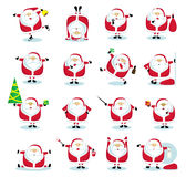 Santa collection Stock Images