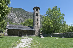 Santa Coloma church at Andorra Stock Photos