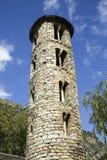 Santa Coloma-kerk van pre-Romaanse structuur in Andorra Royalty-vrije Stock Foto