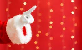 Santa com apontar o gesto imagem de stock royalty free